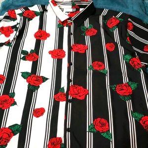 Men's short sleeve woven top